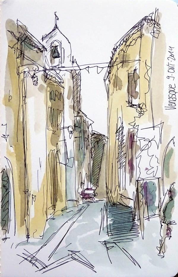 """1154 Venasque Sketch"" original fine art by Dietmar Stiller"