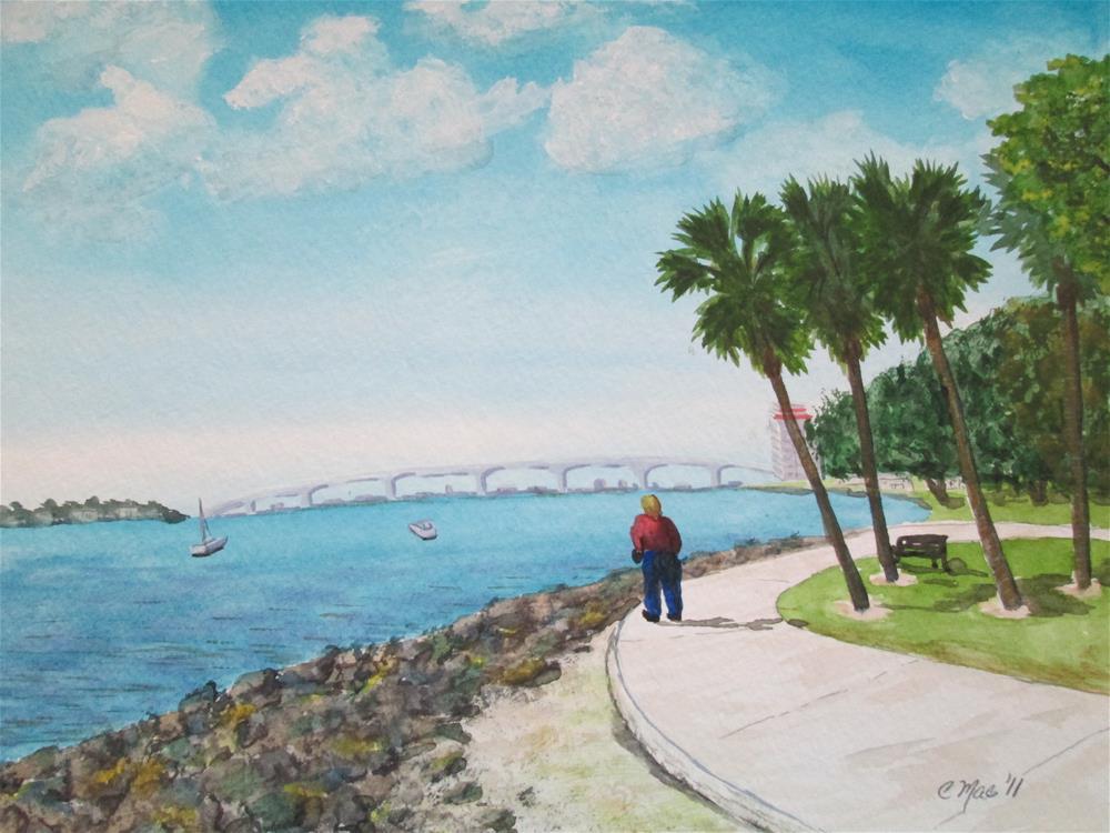"""Sarasota Bay"" original fine art by Chris MacCormack"