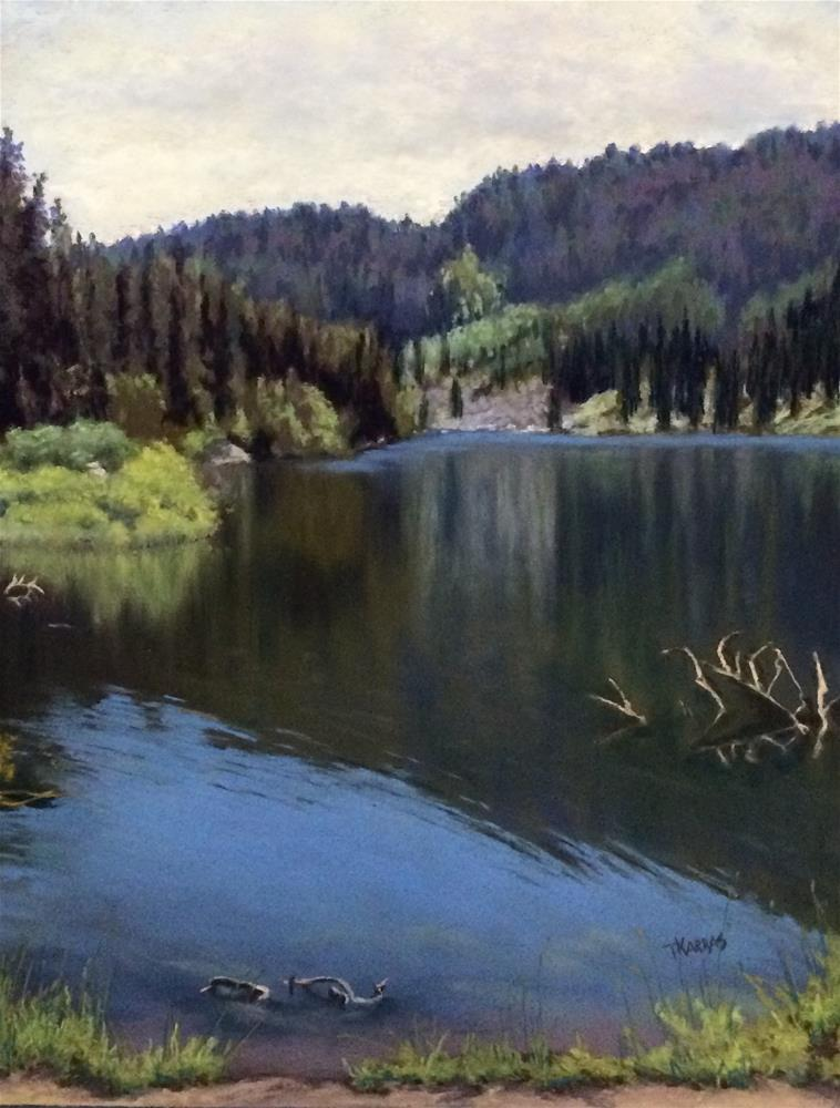 """Boulder Lake"" original fine art by Christina Karras"
