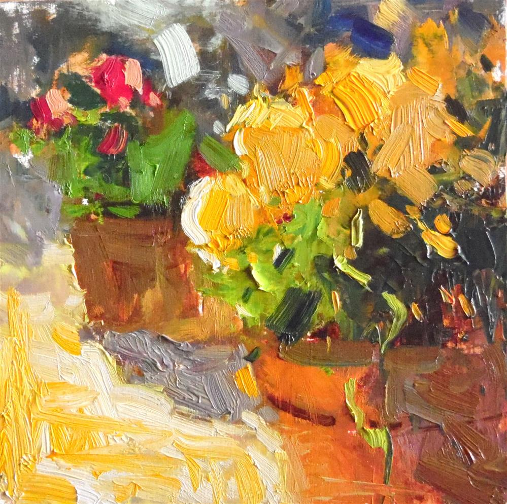 """Springtime Flowers "" original fine art by Michael Clark"