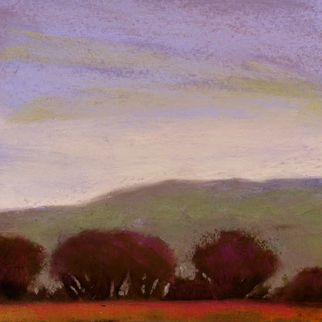 """Trees Along the Missouri"" original fine art by Carolyn Caldwell"