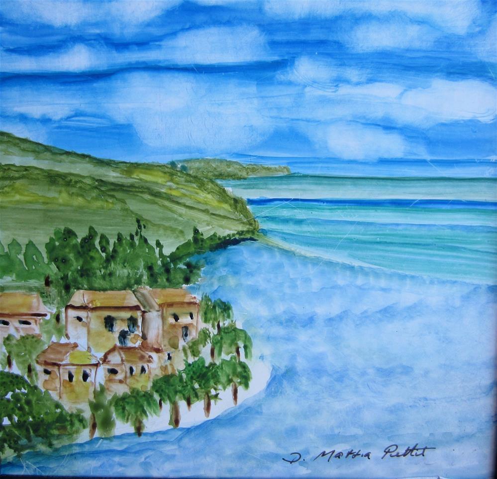 """Tahiti Dreaming"" original fine art by Dolores Pettit"