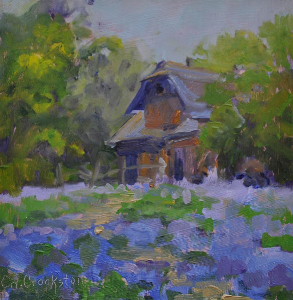 """Lavender Fields"" original fine art by Catherine Crookston"