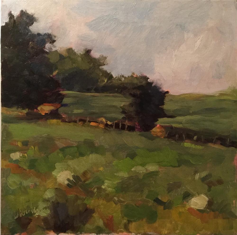 """""""Meadow Green"""" original fine art by Barb Walker"""