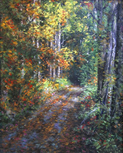 """Old Autumn Road"" original fine art by Danny O'Leary"