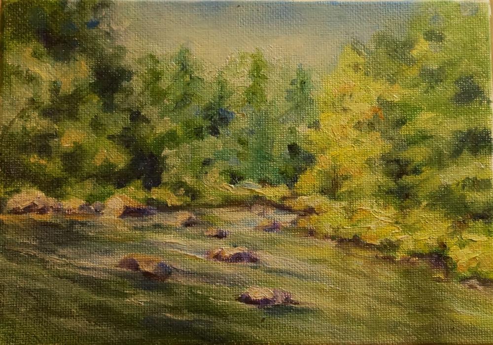 """New Boston River Flow"" original fine art by Maria Levandowski"