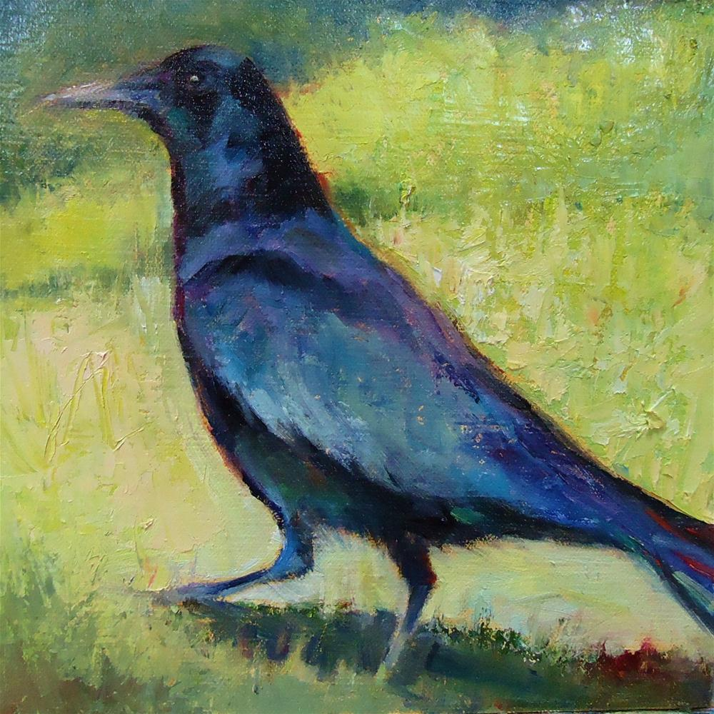 """Summer Raven"" original fine art by Scarlet Owl Studio"