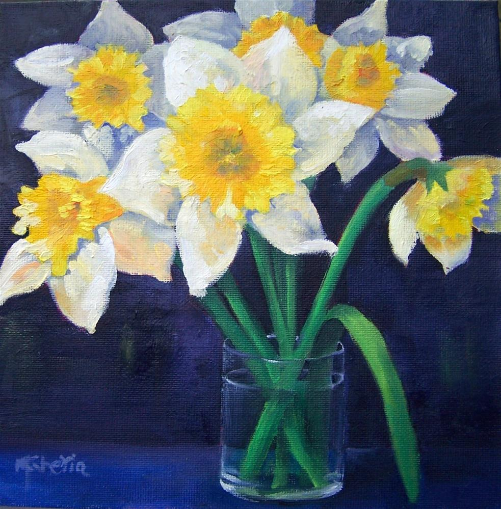 """Spring Daffodils"" original fine art by Maureen Ghetia"