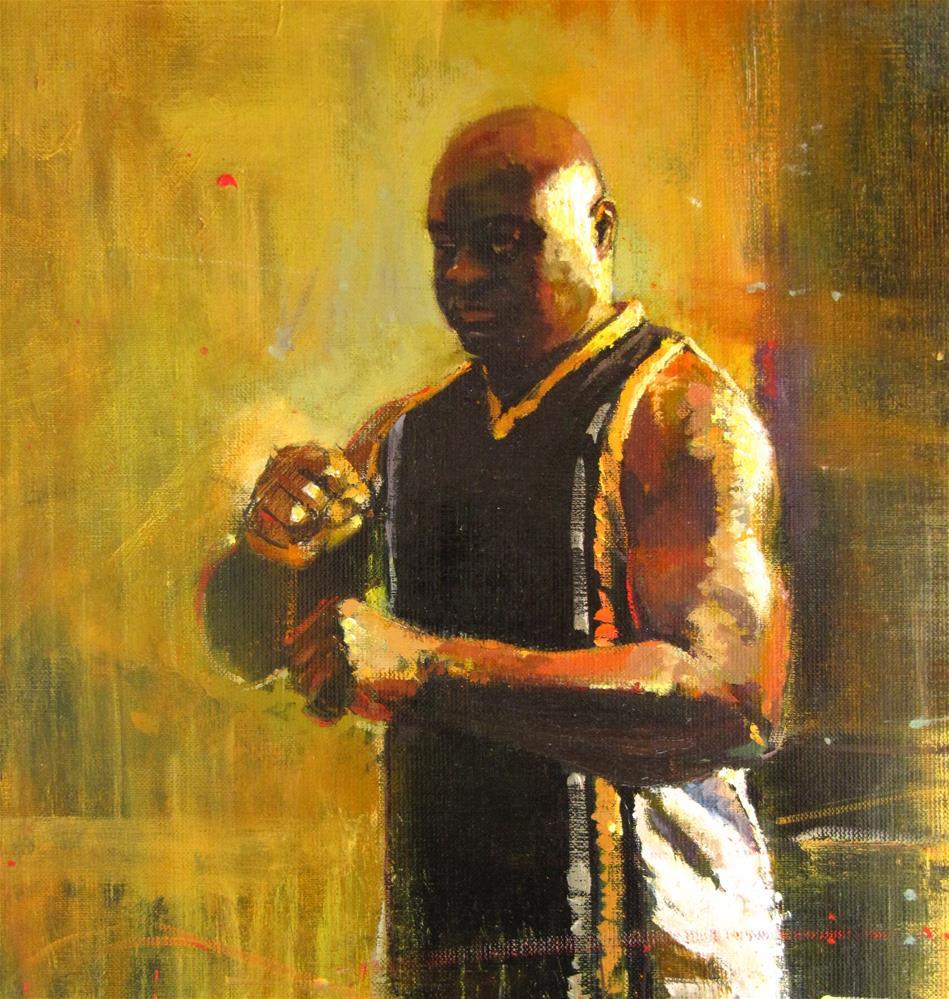 """The One-Eyed Boxer"" original fine art by Adebanji Alade"
