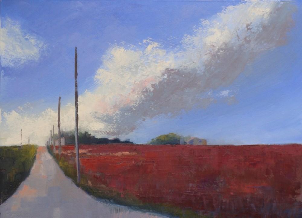 """Follow the Poles"" original fine art by Rebecca Helton"