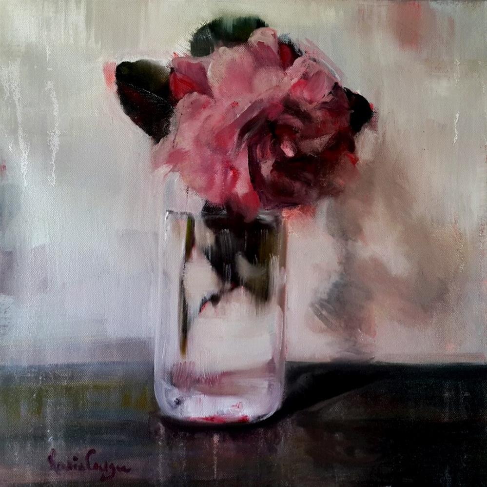 """Vintage in glass"" original fine art by Rentia Coetzee"