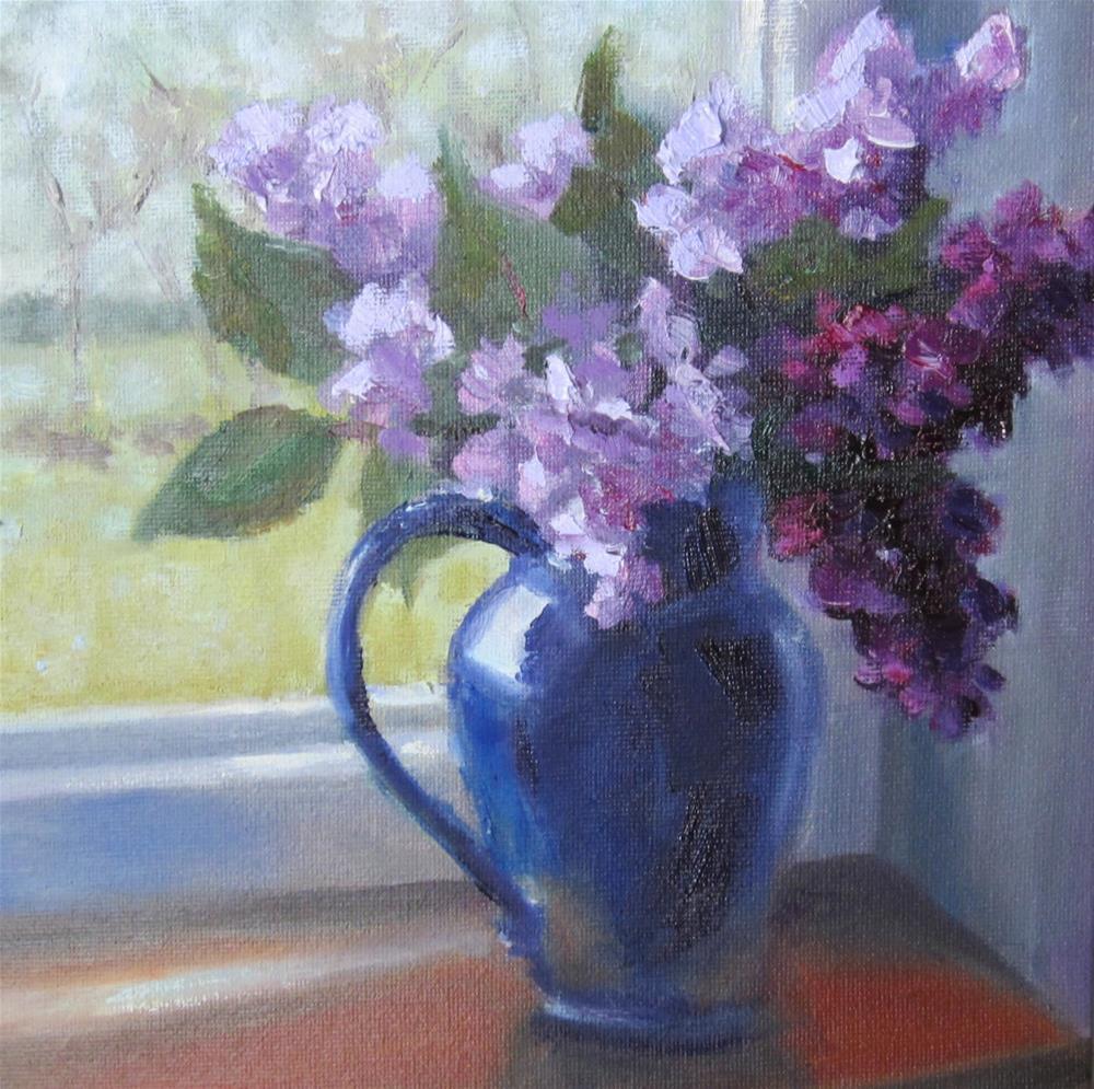 """""""Lilacs of France"""" original fine art by Pat Fiorello"""