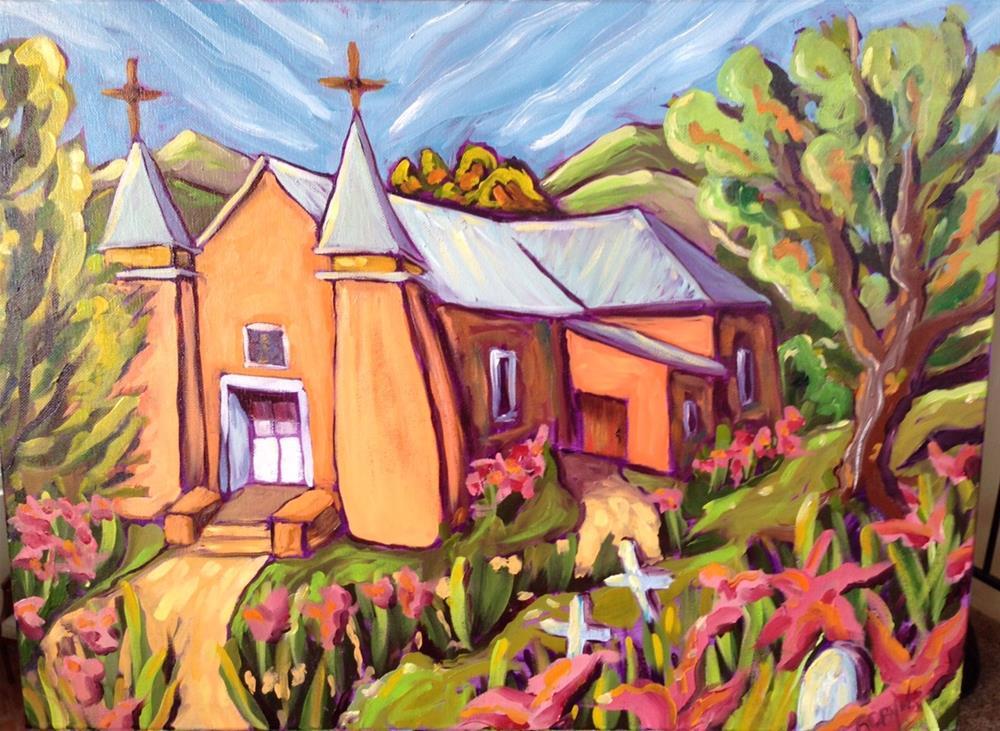 """""""San Ysidro church in Corrales New Mexico"""" original fine art by Robyn Wellman"""