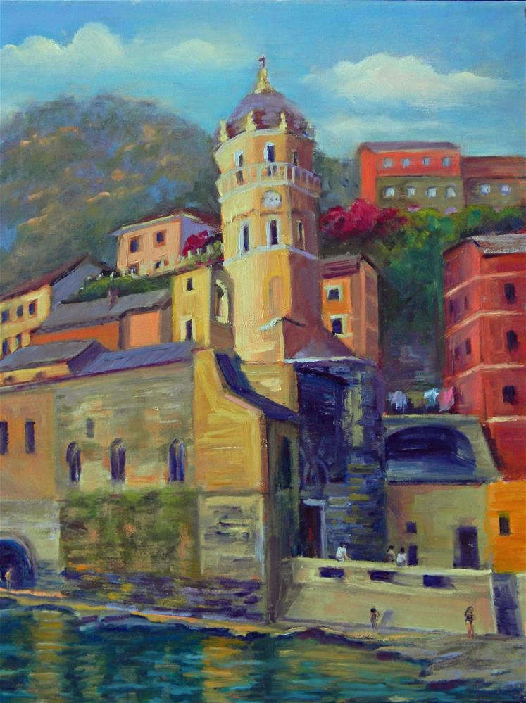 """Vernazza"" original fine art by Barbie Smith"