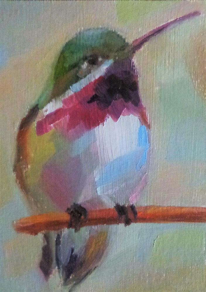 """Hummingbird"" original fine art by Maria Z."