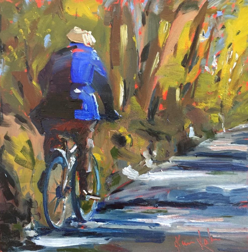 """Scenic route home"" original fine art by Karen Laken"