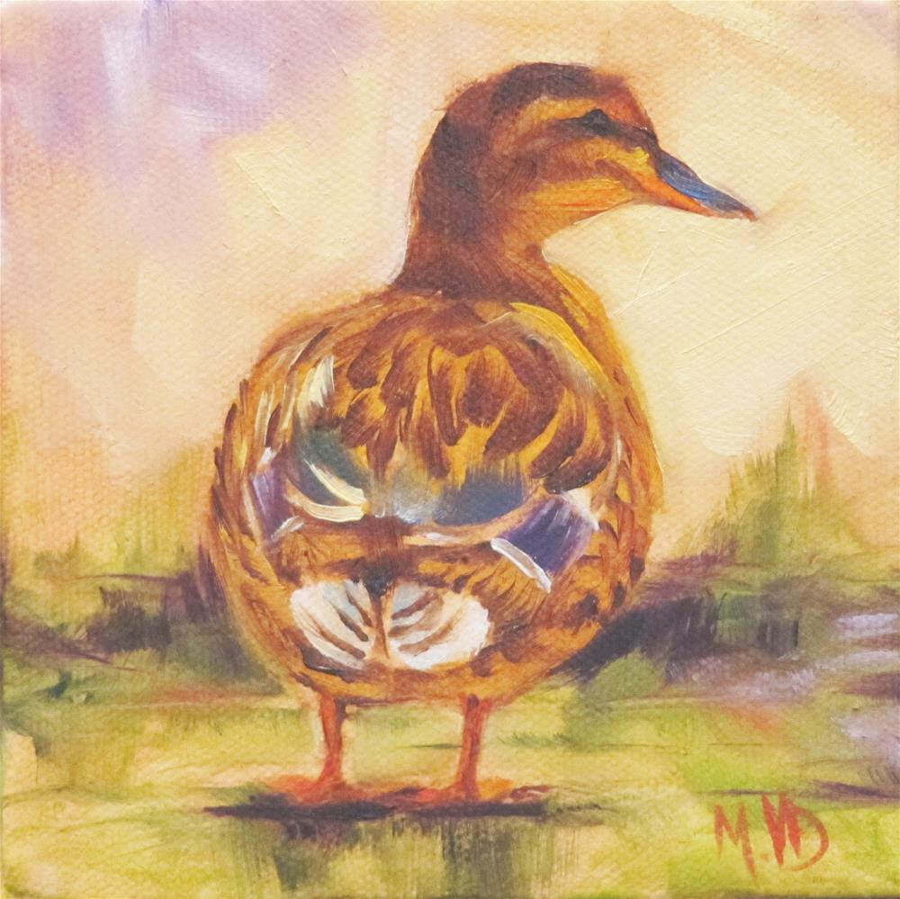 """Lady Mallard"" original fine art by Mary  Van Deman"