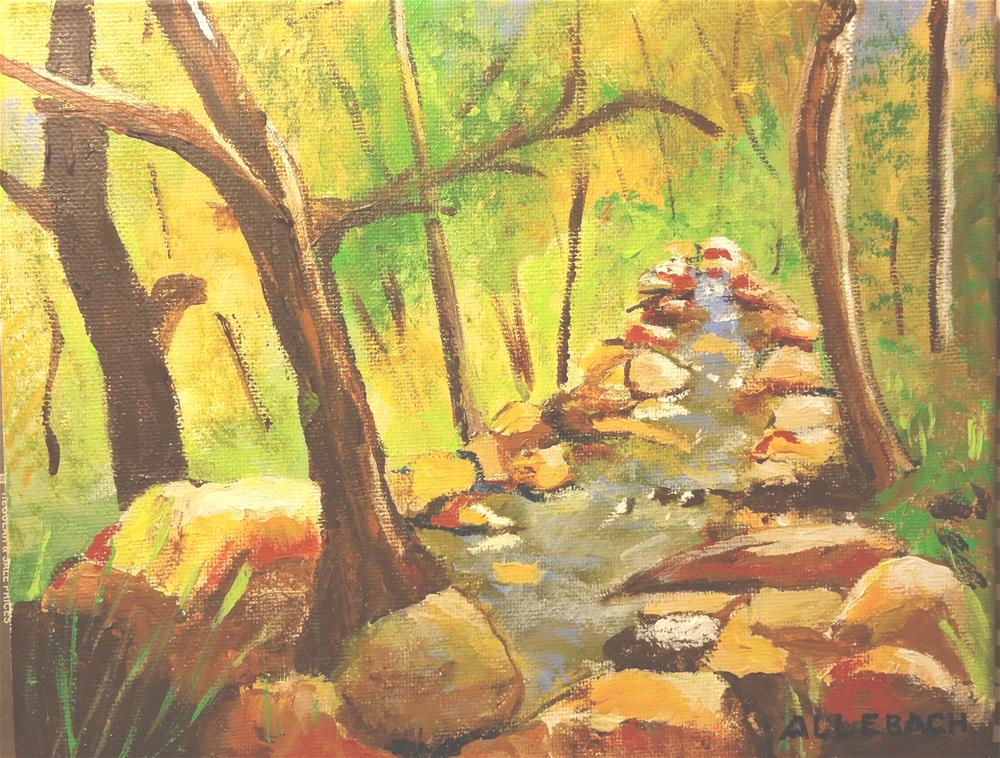 """Little Creek"" original fine art by Jo Allebach"