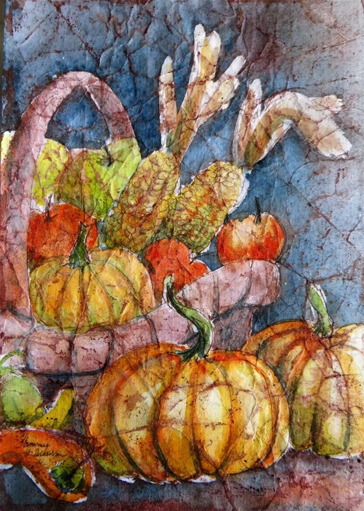 """Harvest Basket"" original fine art by Tammie Dickerson"