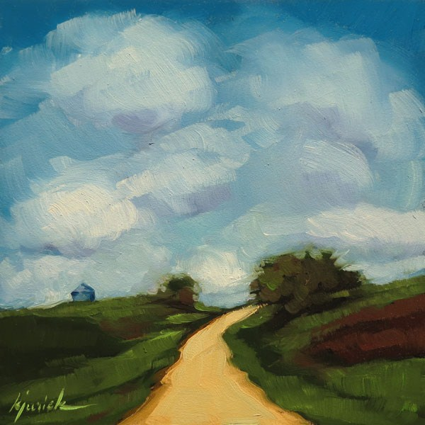 """Happy Little Clouds in Iowa"" original fine art by Karin Jurick"