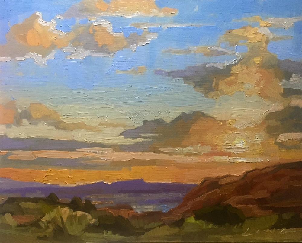 """Somewhere in Arizona"" original fine art by Chris Long"