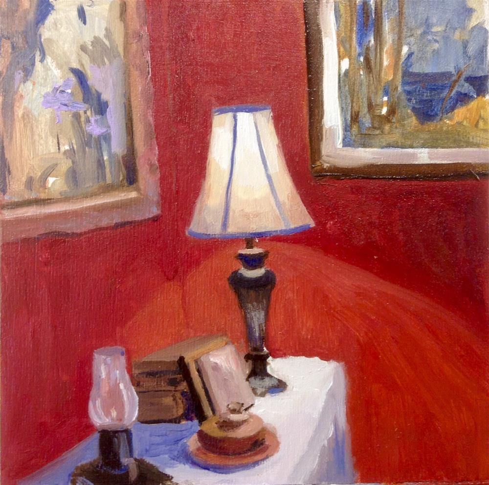 """In Her Dining Room"" original fine art by Cathy Boyd"