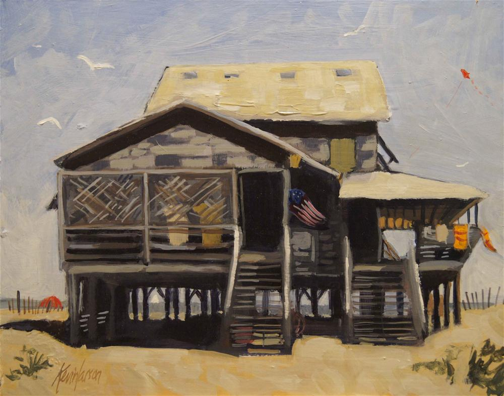 """Beach Cottage 7"" original fine art by Kevin Larson"