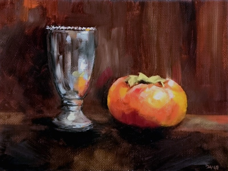 """Persimmon And Silver"" original fine art by Dalan Wells"