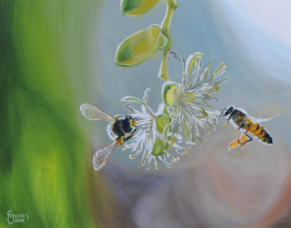 """Pollination"" original fine art by Fred Jones"