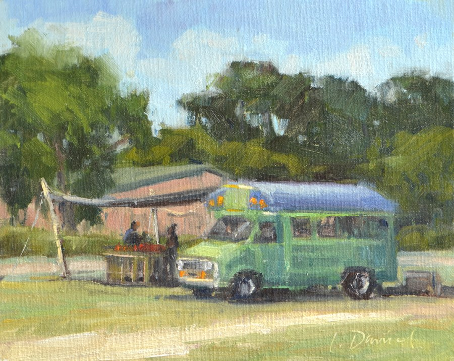 """Roadside Sales - Georgia Coast"" original fine art by Laurel Daniel"