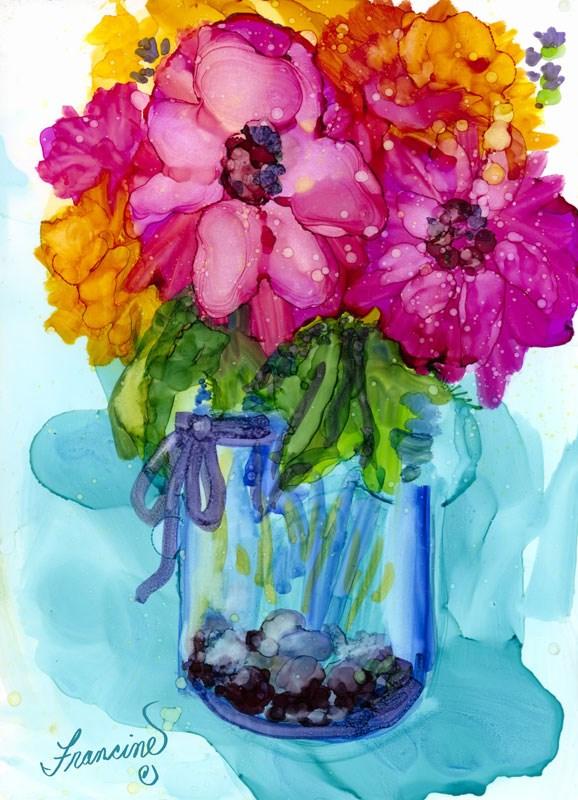 """""""Mother's Bouquet"""" original fine art by Francine Dufour~Jones"""