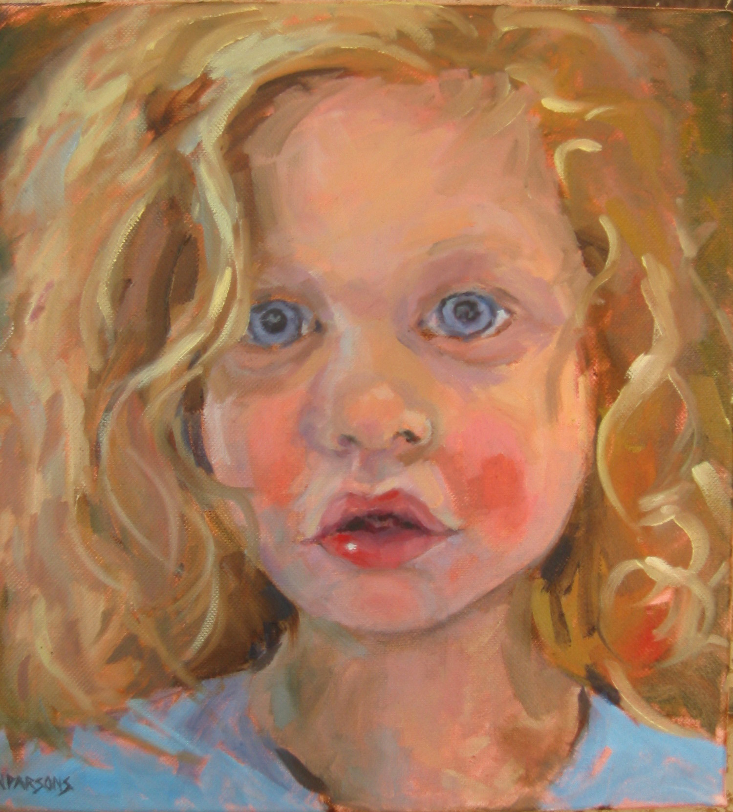 """Eyes of Innocence"" original fine art by Nancy Parsons"