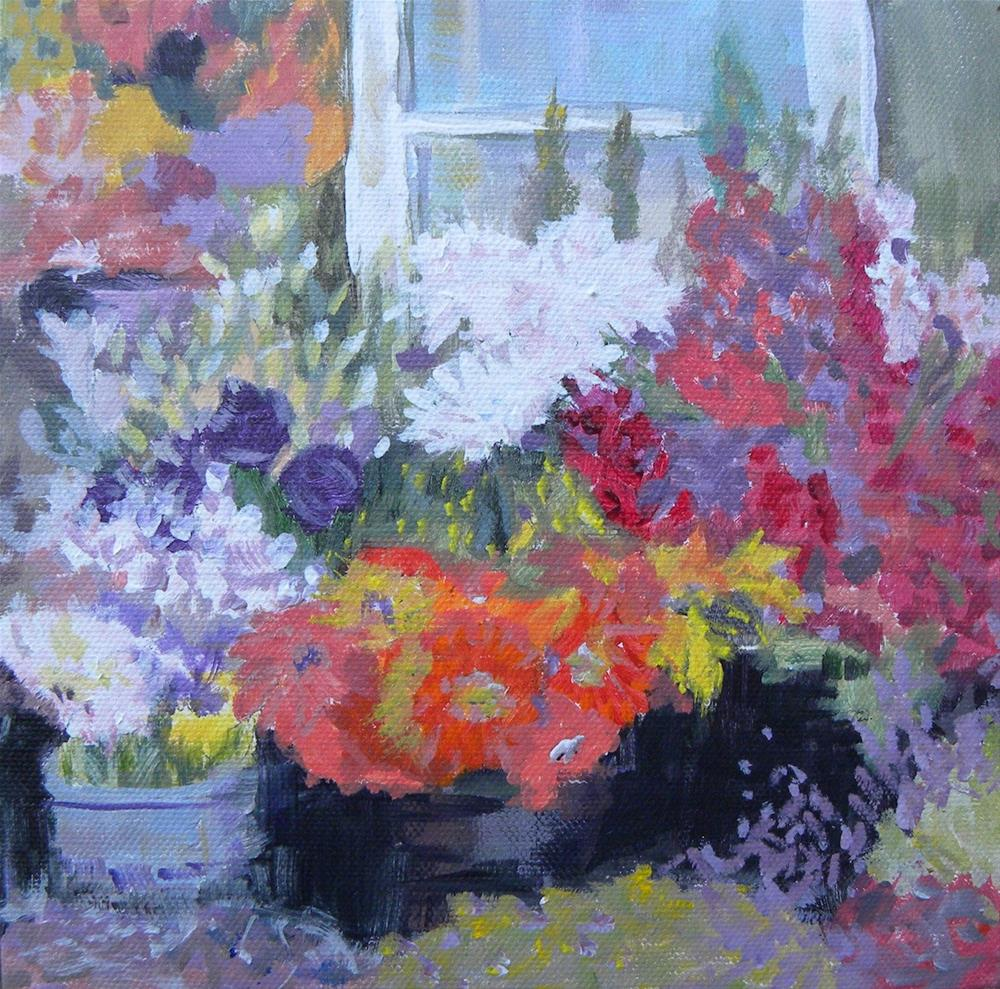 """Garden Window"" original fine art by cheryl buhrman"