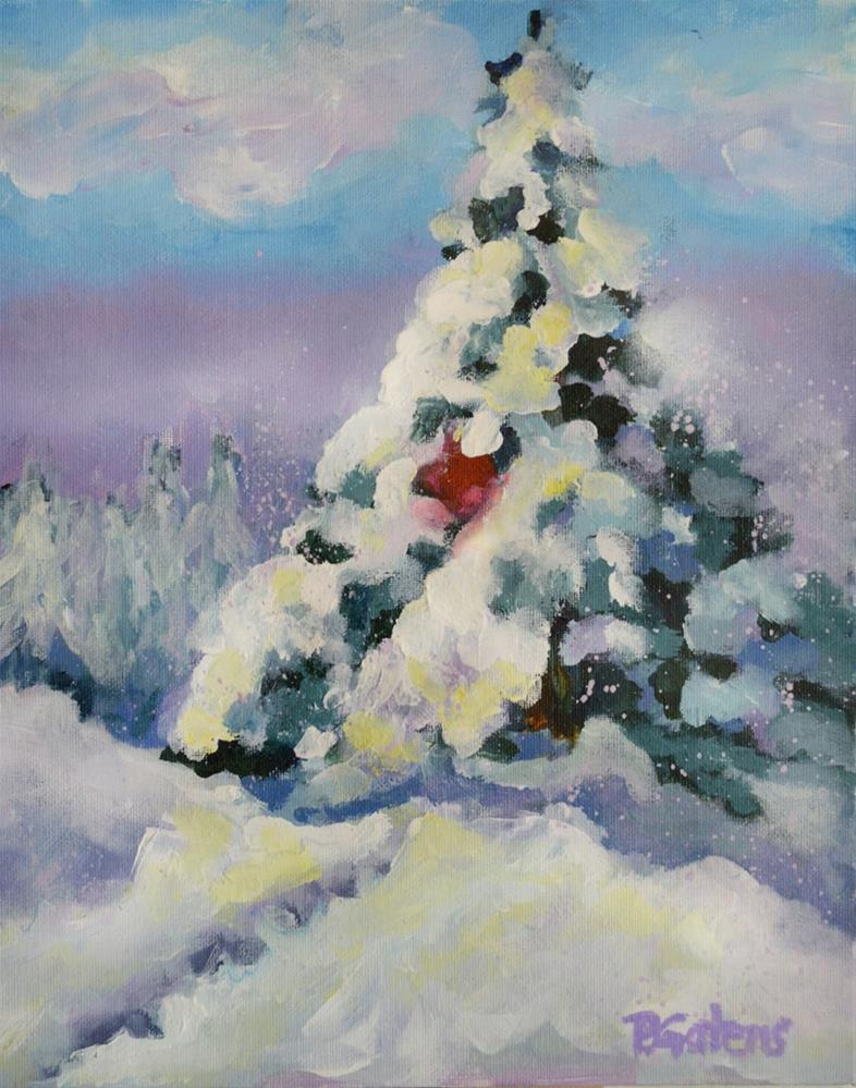 """Ruby Evergreen"" original fine art by Pamela Gatens"