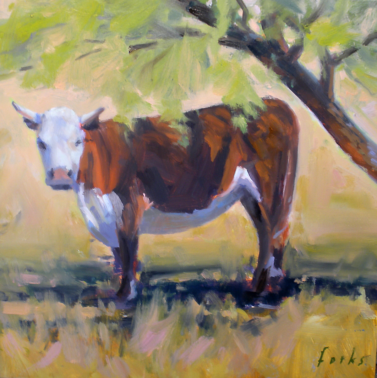 """Under a Mesquite"" original fine art by David Forks"