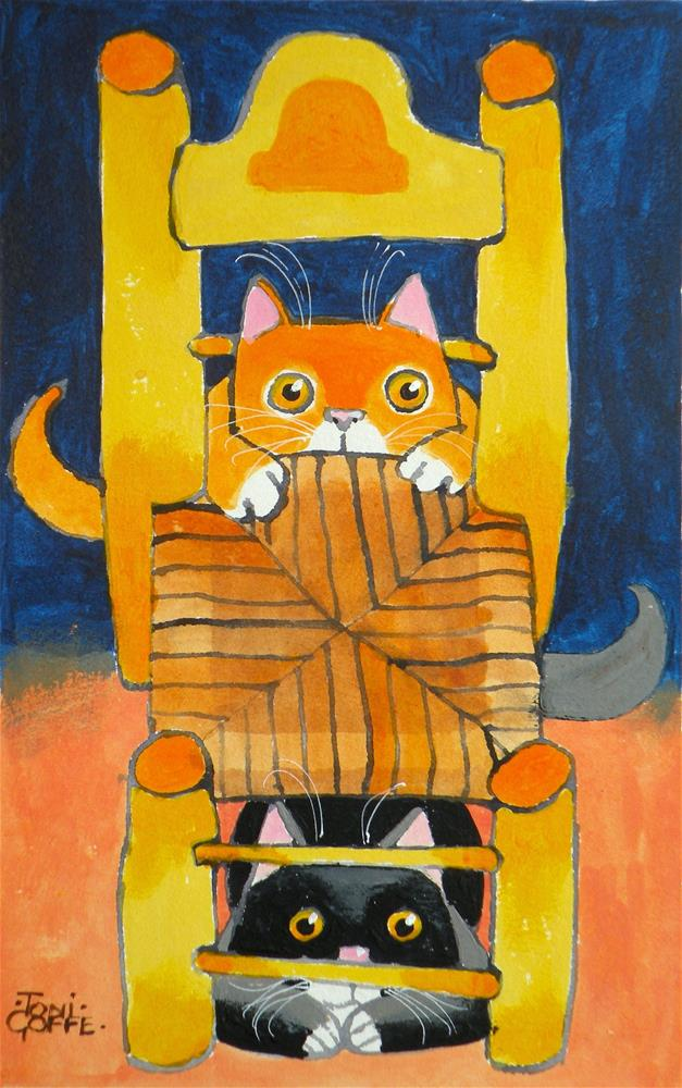 """Van Gogh's Cats"" original fine art by Toni Goffe"