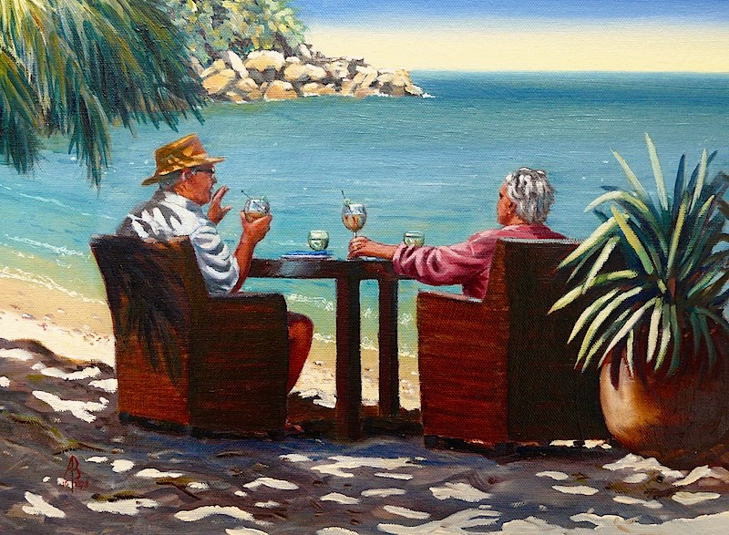 """Sundowners"" original fine art by Alix Baker"