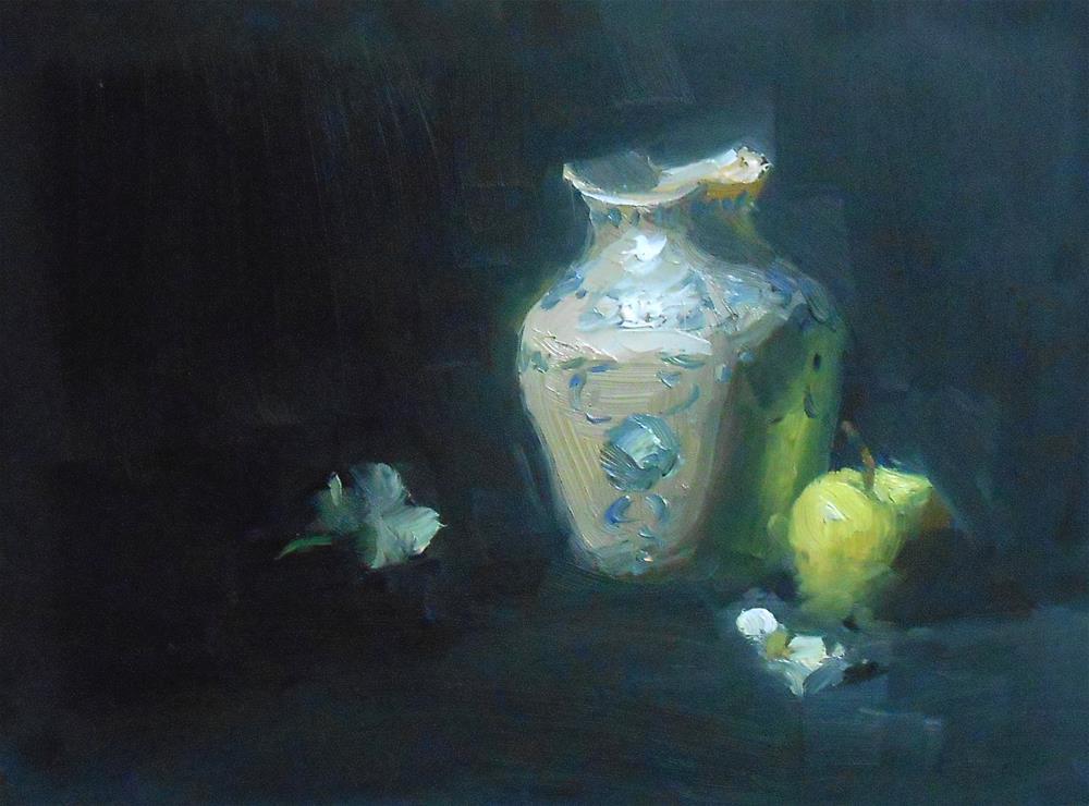 """Victorian Bud Vase"" original fine art by Kelli Folsom"