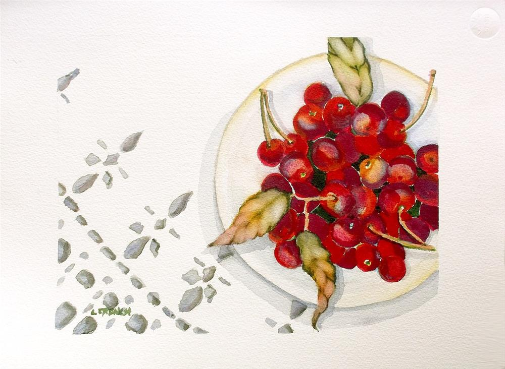 """Fourth of July Cherries"" original fine art by lynne french"