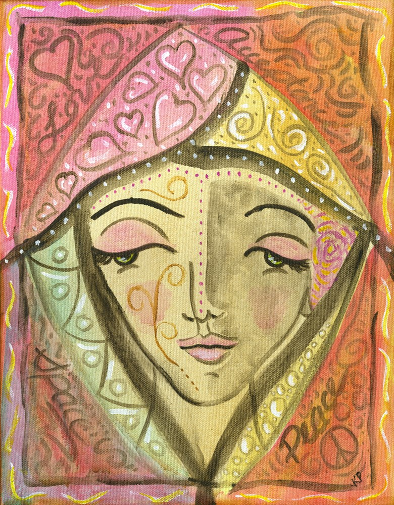 """Self Compassion"" original fine art by Kali Parsons"