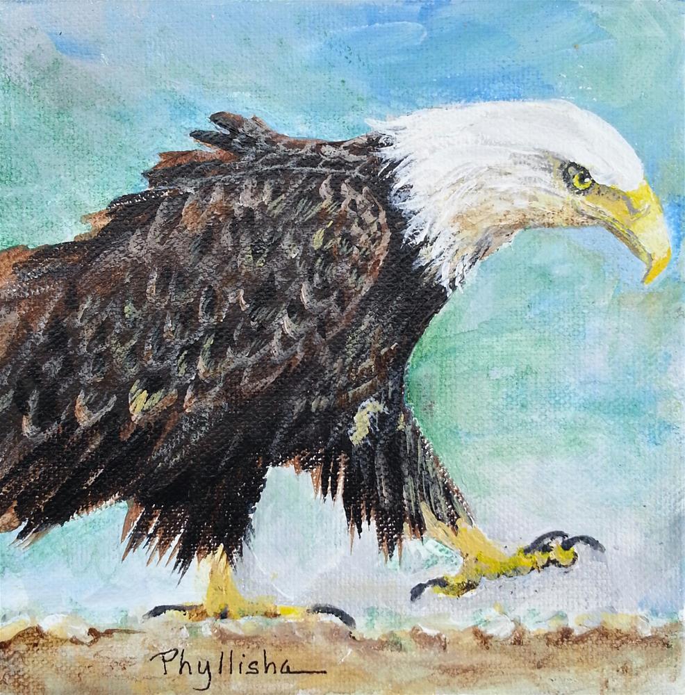 """Determined Eagle"" original fine art by Phyllisha Hamrick"