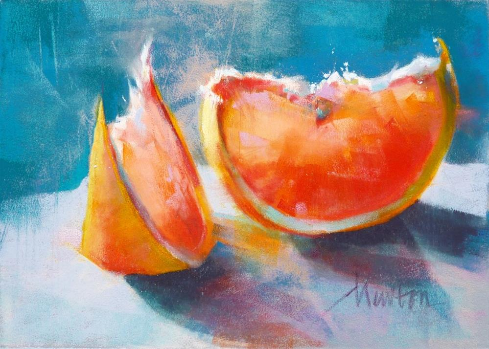 """Pink Grapefruit 1"" original fine art by Barbara Benedetti Newton"