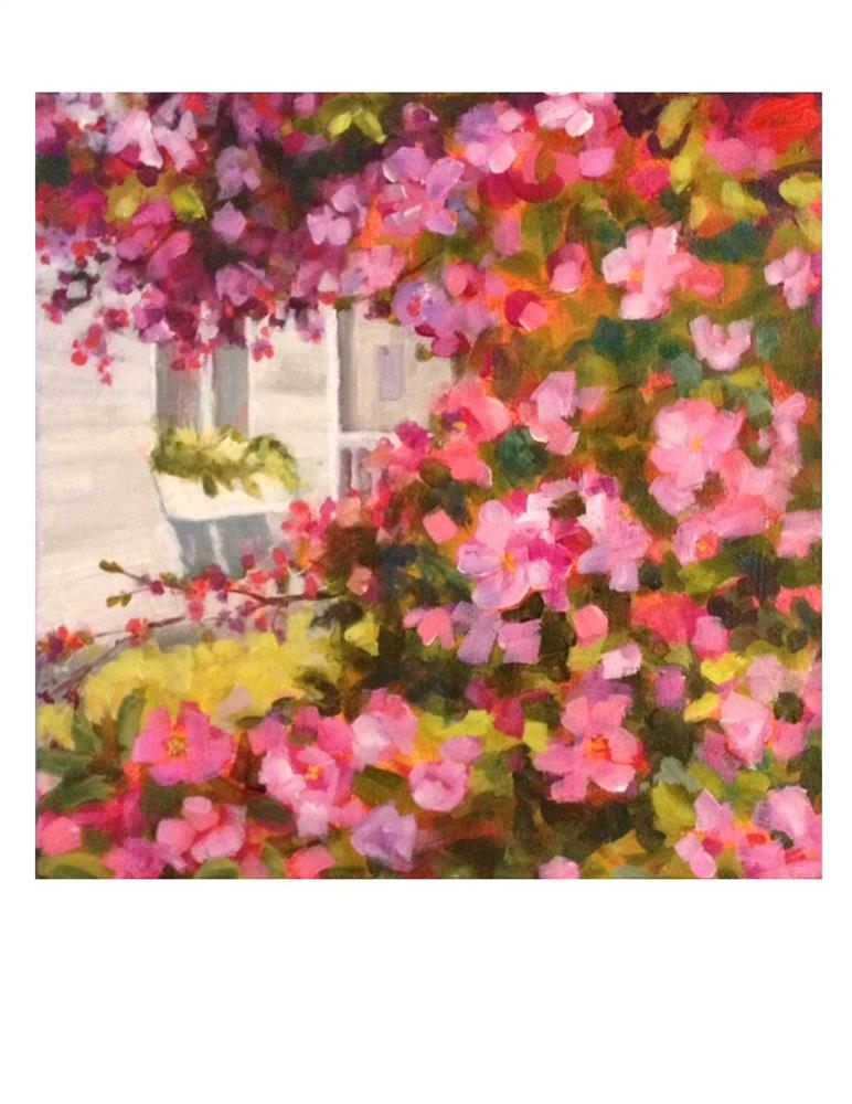 """Crabapple Blossoms"" original fine art by Suzanne Woodward"
