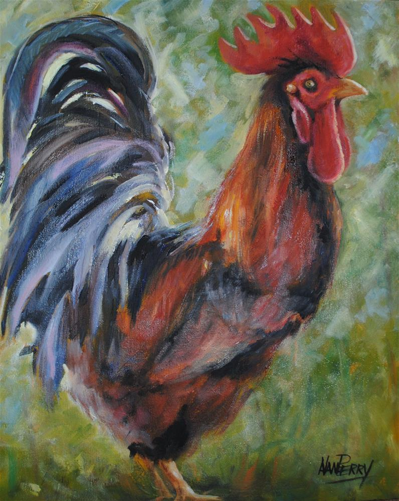 """""""Bernard"""" original fine art by Nan Perry"""