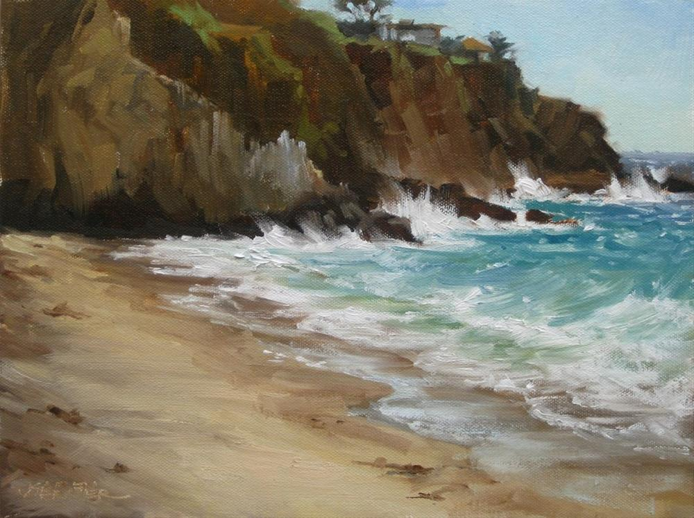 """Abalone Point"" original fine art by Karen Werner"