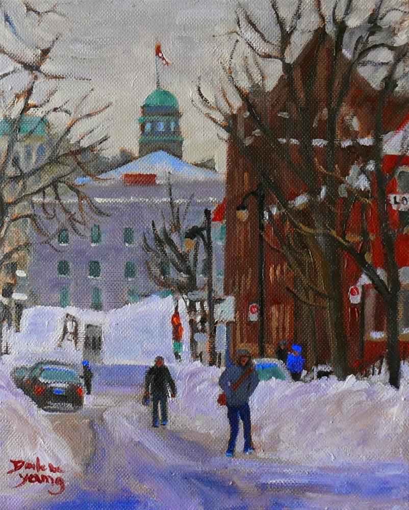 """831 Montreal Winter, Near Lorne, 8x10 oil"" original fine art by Darlene Young"