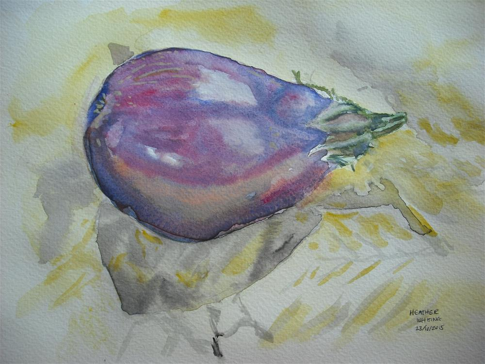 """Lonely Aubergine"" original fine art by Heather Whiting"