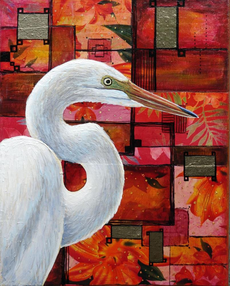 """Great Egret"" original fine art by Ande Hall"
