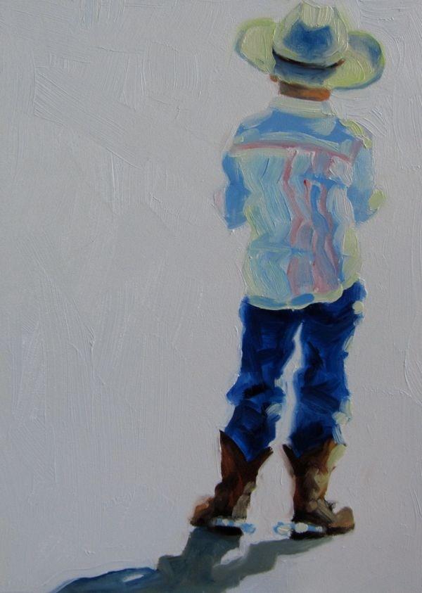 """COW-boy"" original fine art by Mb Warner"