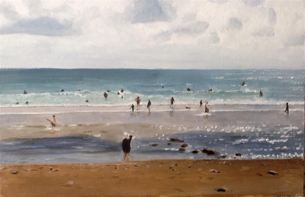"""A Day at the Beach"" original fine art by James Coates"